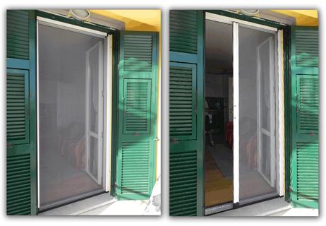 Zanzariere tende da sole tendaggi la nuova - Zanzariera porta finestra ...